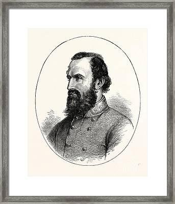 Stonewall Jackson, Framed Print by American School