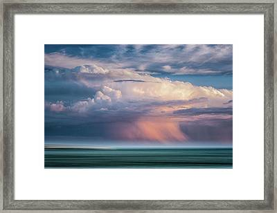 Storm On The Sound Framed Print