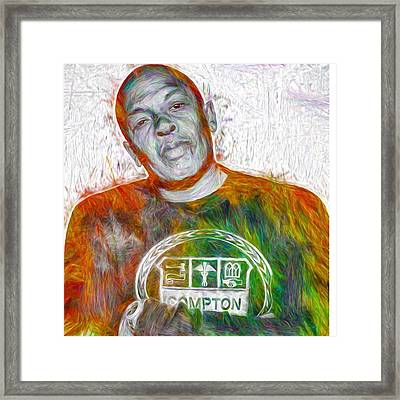 Straight Outta Canvas Dr Dre #drdre Framed Print
