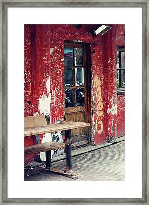 Street Cafe In Amsterdam  Framed Print