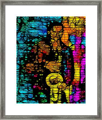 Street Jazz Framed Print