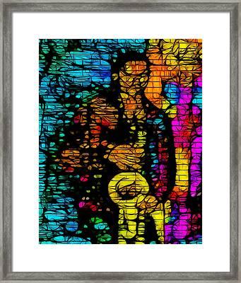 Street Jazz Framed Print