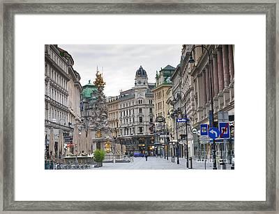 Streets Of Vienna Framed Print