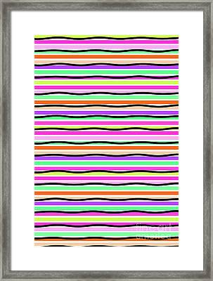 Stripes Framed Print by Louisa Knight