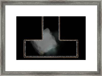 Stripper Stage Framed Print