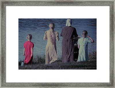 Strolling Seamstress Family Framed Print