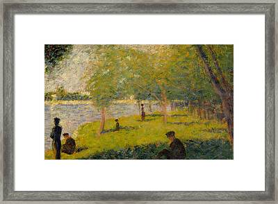 Study For Sunday Afternoon On The Island Of La Grand Jatte Framed Print