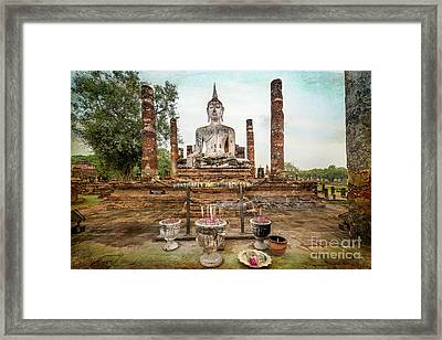 Framed Print featuring the photograph Sukhothai Buddha by Adrian Evans