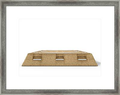 Sumo Wrestling Ring Framed Print by Allan Swart