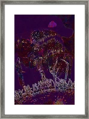 Framed Print featuring the digital art Sun Flower Hummel Insect Summer  by PixBreak Art
