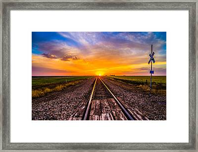 Sun Tracks Framed Print