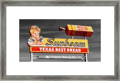 Sunbeam - Texas Best Bread Framed Print
