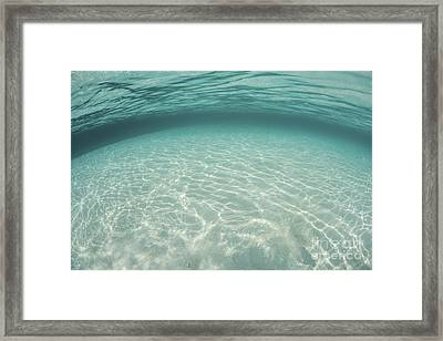 Sunlight Ripples Across A Shallow Sand Framed Print