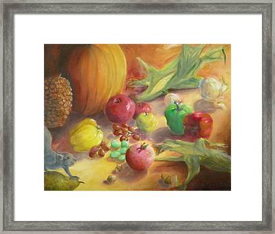 Sunlit Harvest Framed Print