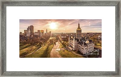 Framed Print featuring the photograph Sunrise In Hartford Connecticut by Petr Hejl