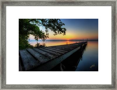 Sunrise Over Cayuga Lake Framed Print