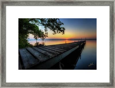 Sunrise Over Cayuga Lake Framed Print by Everet Regal