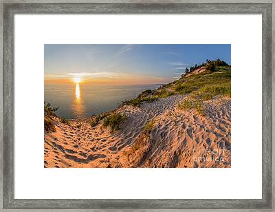 Sunset At Old Baldy Framed Print by Twenty Two North Photography