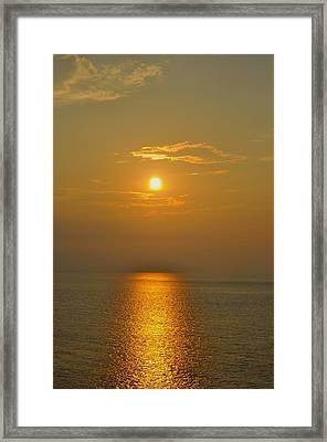 Sunset At Rameshwaram  Framed Print