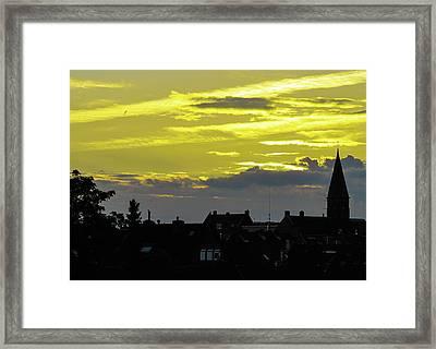 Sunset In Koln Framed Print by Cesar Vieira
