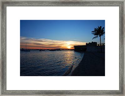 Framed Print featuring the photograph 2- Sunset In Paradise by Joseph Keane