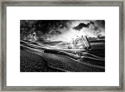 Sunset Message Framed Print by Hk1993