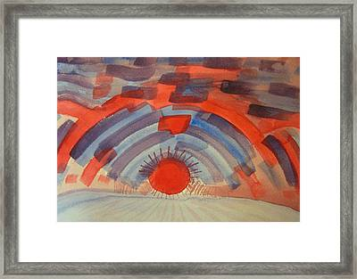 Sunset On The Horizon Framed Print