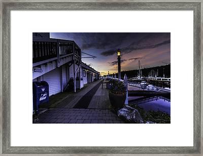 Sunset Roche Harbor Framed Print by Thomas Ashcraft
