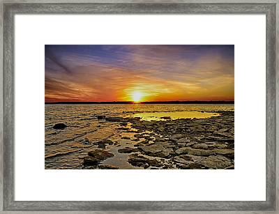 Sunset Framed Print by Steven  Michael