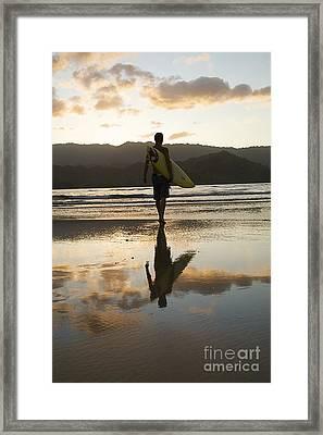 Sunset Surfer Framed Print by Kicka Witte - Printscapes