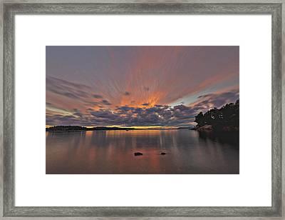 Sunset Framed Print by Thomas Ashcraft