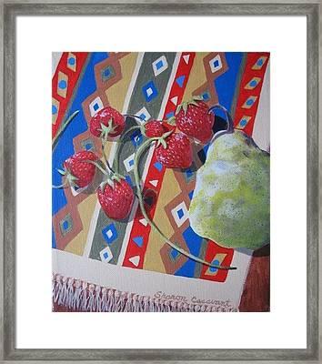 Sunshine On Fruit Framed Print