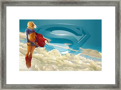 Supergirl Art Framed Print