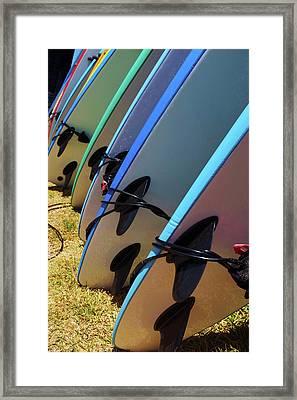 Surf Boards Framed Print by Carlos Caetano