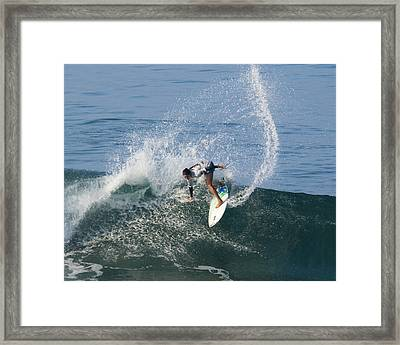 Surfer Girl Malia Manuel Framed Print by Waterdancer