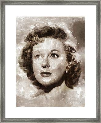 Susan Hayward, Vintage Hollywood Actress Framed Print