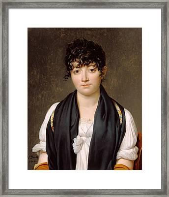 Suzanne Le Peletier De Saint-fargeau Framed Print by Jacques-Louis David