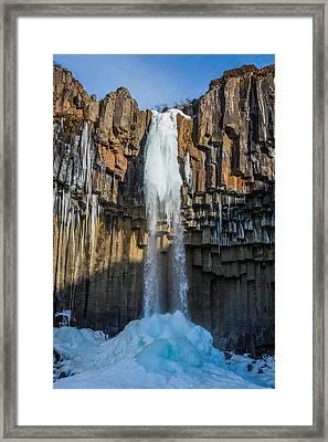 Svartifoss Waterfall, Icelandblack Falls Framed Print