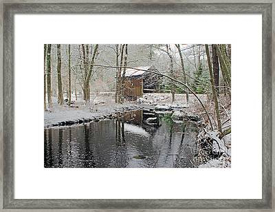 Swamp Meadow Covered Bridge Framed Print