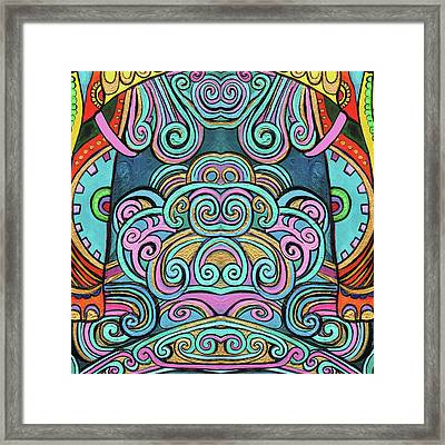 Swirly Design Framed Print