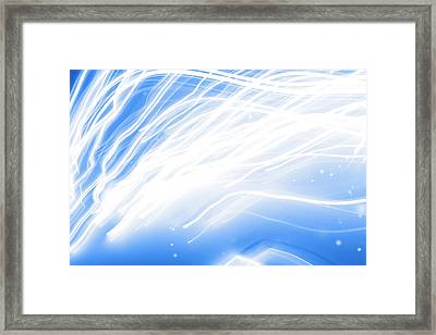 Swirly Lines Framed Print by Les Cunliffe