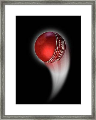 Swooshing Ball Framed Print