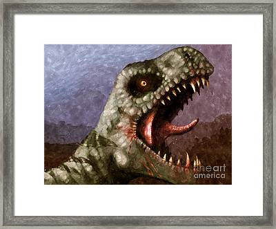 T-rex  Framed Print by Pixel  Chimp