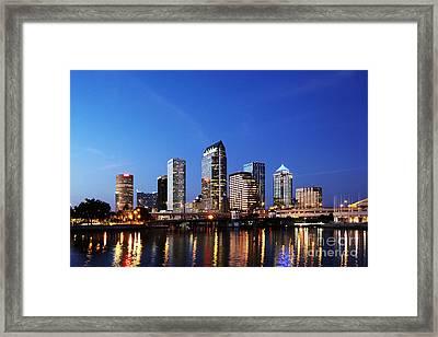 Tampa Skyline Framed Print by Skip Nall