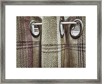 Tartan Curtain Pattern Framed Print by Tom Gowanlock
