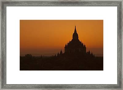 Temples Of Bagan Framed Print by Arabesque Saraswathi