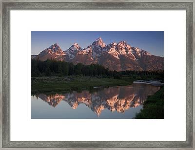 Teton Reflections Framed Print by Andrew Soundarajan