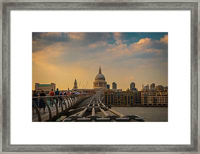 Framed Print featuring the photograph Thames View by Stewart Marsden