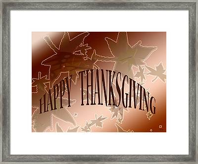 Thanksgiving Card Framed Print by Debra     Vatalaro