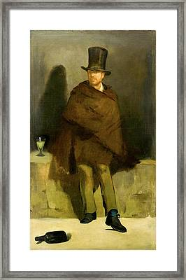 The Absinthe Drinker Framed Print by Edouard Manet